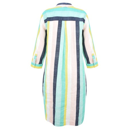 Sandwich Clothing Bold Stripe Linen Shirt Dress - Green