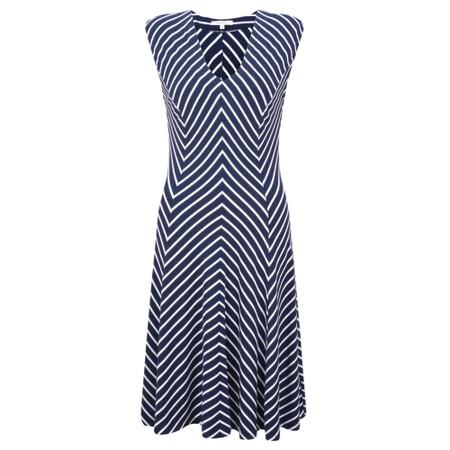 Sandwich Clothing Striped Jersey Dress - Blue