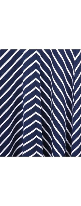 Sandwich Clothing Striped Jersey Dress Navy