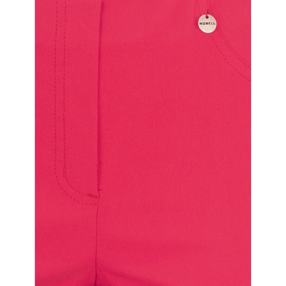 Robell Bella 09 Raspberry Ankle Length Crop Cuff Trouser Raspberry 460
