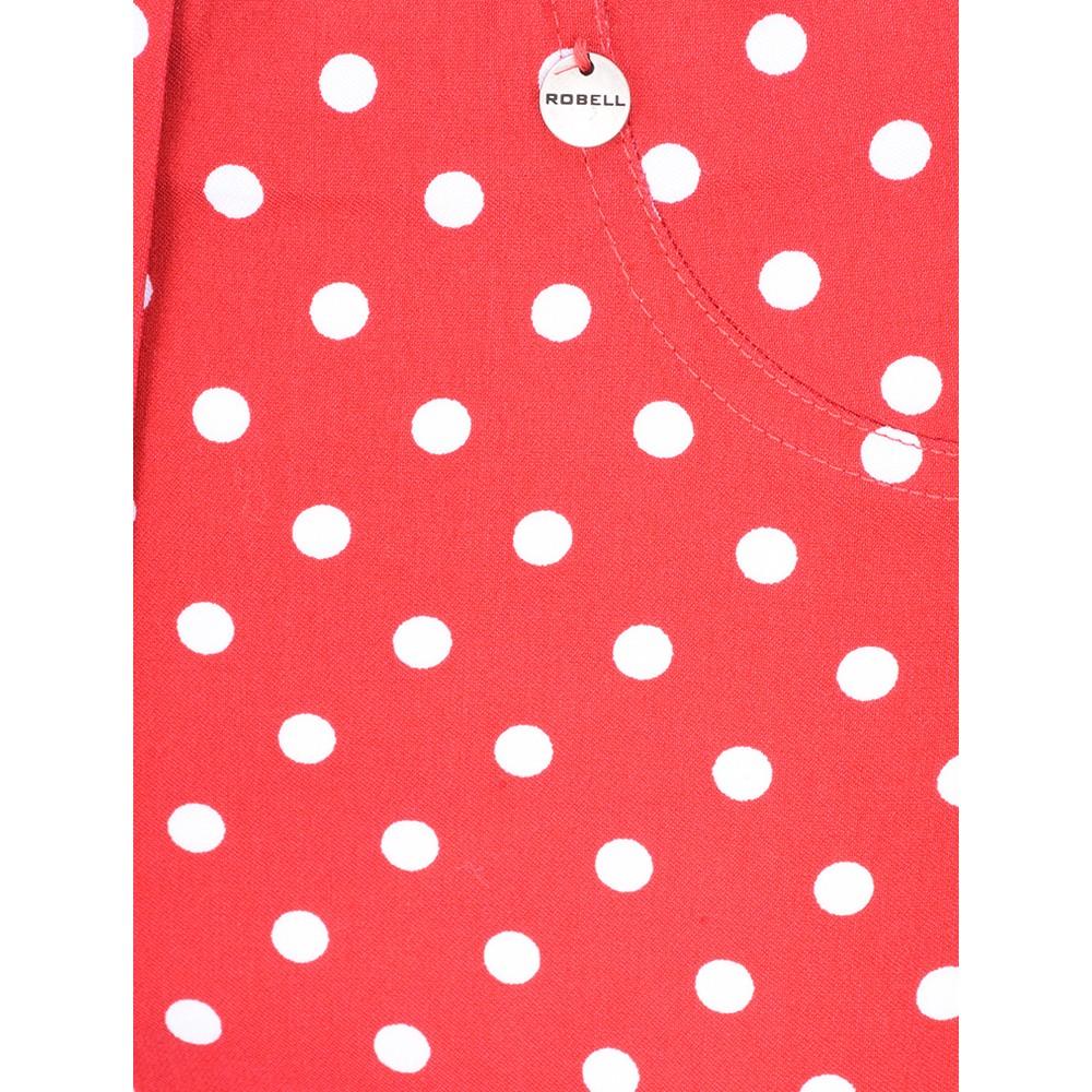 Robell Bella 09 Polka Dot Print Trouser Red