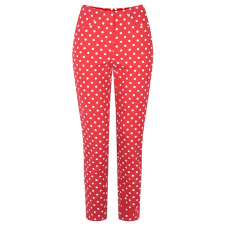 Robell Trousers Bella 09 Polka Dot Print Trouser - Red