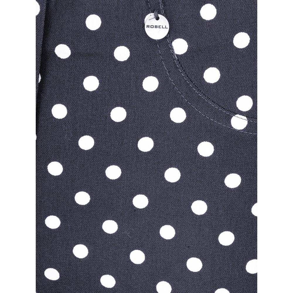 Robell Bella 09 Polka Dot Print Trouser Navy