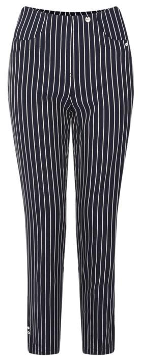 Robell Bella 09 Pin-Stripe Cropped Trouser Navy