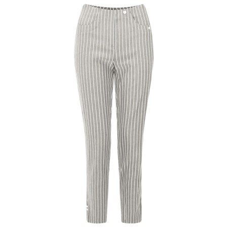 Robell Trousers Bella 09 Pin-Stripe Cropped Trouser - Brown