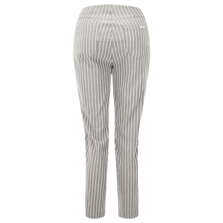 Robell  Bella 09 Pin-Stripe Cropped Trouser - Brown