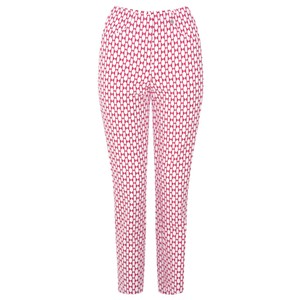 Robell Trousers Bella 09 Geometric Print Cropped Trouser