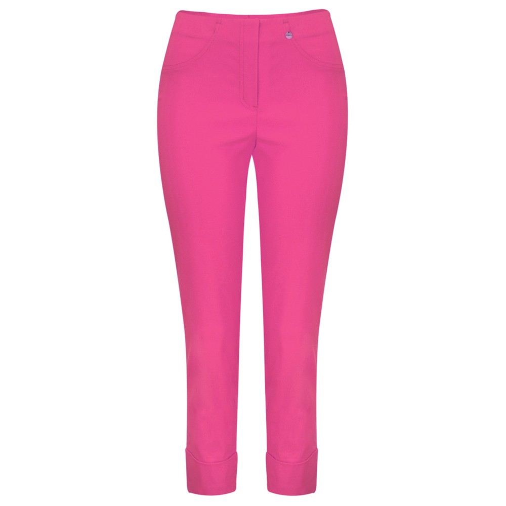Robell Bella 09 Orchid Pink Ankle Length Crop Cuff Trouser Orchid Pink 550