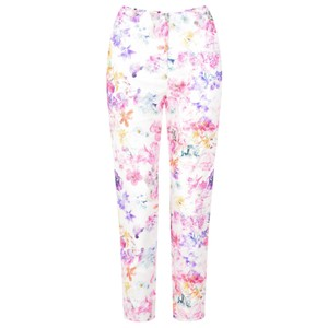 Robell Trousers Rose 09 Floral Cropped Trouser