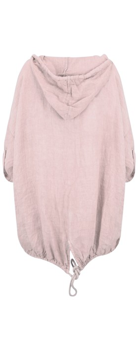 Arka Jana Easyfit Hooded Linen Jacket Pale Pink