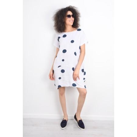 Arka Dottie Linen Dress - Blue
