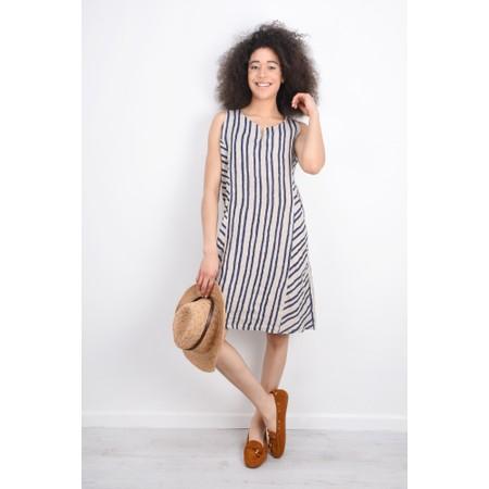 DECK Ciara Linen Dress - Beige