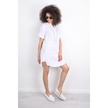DECK Mairi Linen Dress - White