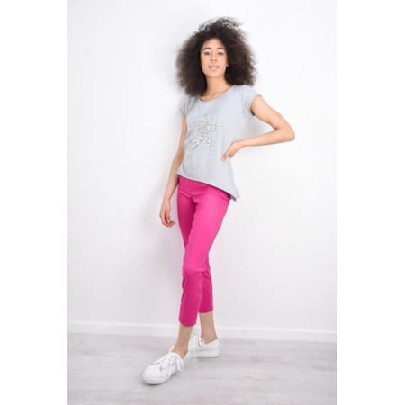 Robell  Bella 09 Ankle Length 7/8 Cuff Trouser - Pink