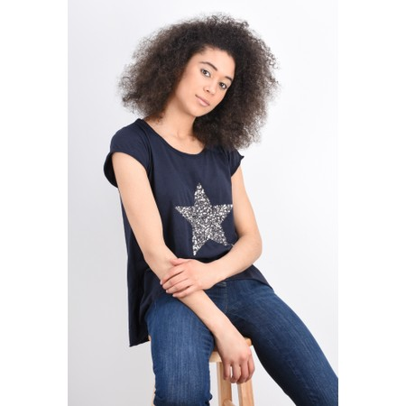 Luella Star Sequin T-Shirt - Blue