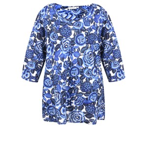 Masai Clothing Floral Print Kiwi Top