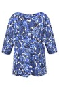 Masai Clothing Greek Blue Org Floral Print Kiwi Top