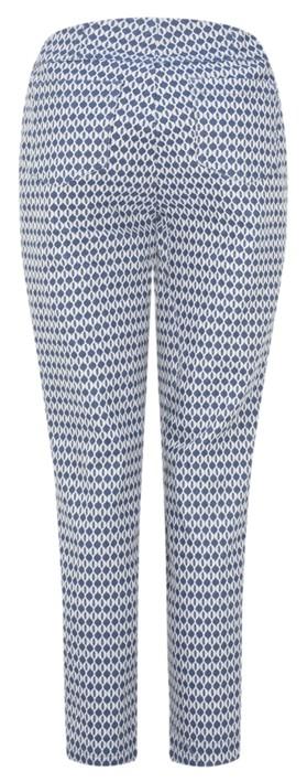 Robell  Bella 09 Fleur de Lys Jacquard Cropped Trouser Blue 62