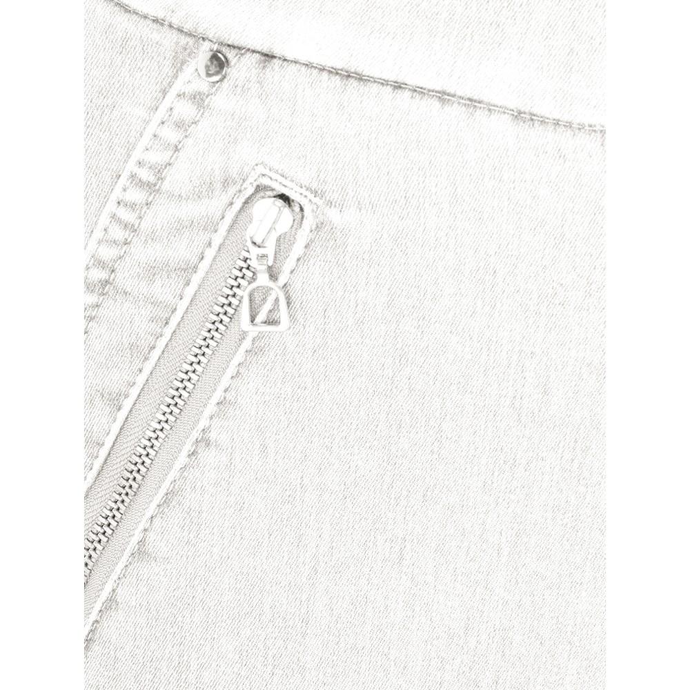 Robell Nena 09 Light Grey Ankle Zip Cropped Powerstretch Jean Light Grey 91