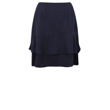 Smashed Lemon Frill Wrap Skirt - Blue