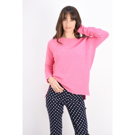 DECK Raegan Supersoft Rib Knit Jumper - Pink