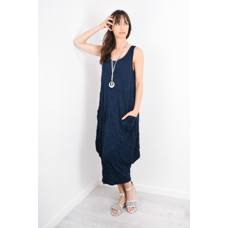 Thing Crinkle Easy Fit Pocket Dress - Blue
