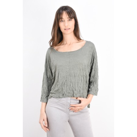 Thing Crinkle Easy Fit Wide Top - Beige