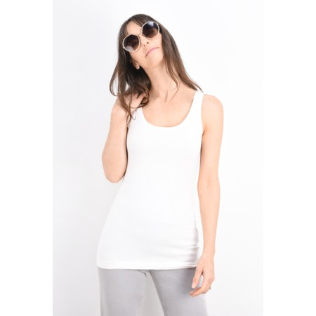 Sandwich Clothing Organic Cotton Vest Top - White