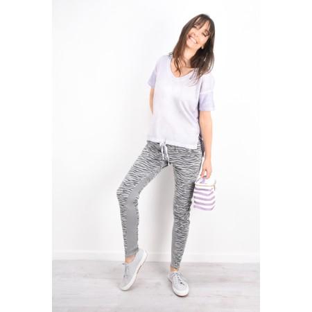 Sandwich Clothing Zebra Print Casual Trouser - Blue
