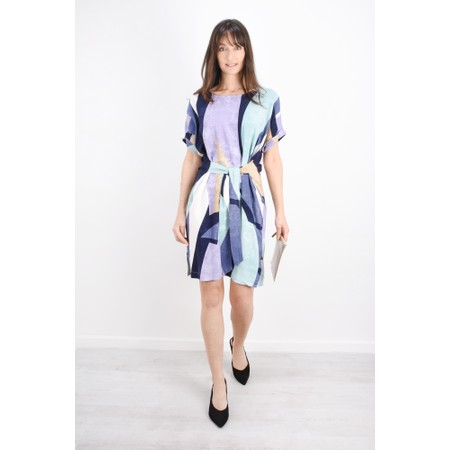 Sandwich Clothing Abstract Colour Block Dress - Green