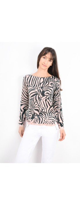 Sandwich Clothing Zebra Jumper Washed Rose