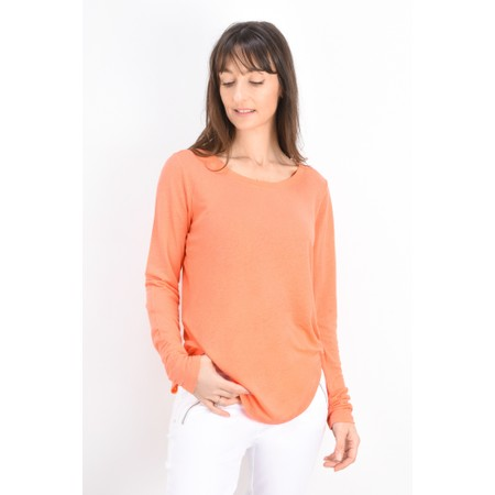 Sandwich Clothing Linen Mix Long Sleeve Top - Orange