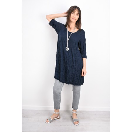 Thing Crinkle A-Shaped Tunic Top  - Blue
