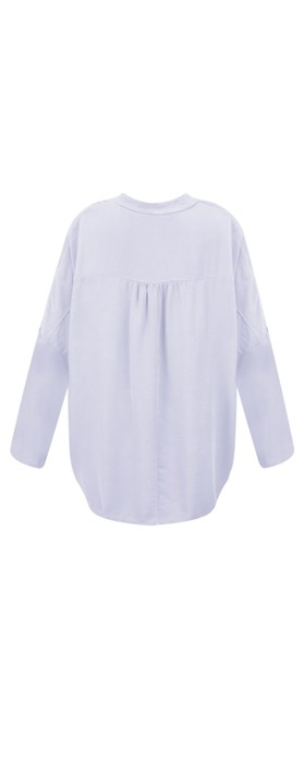 DECK Evie Easyfit Shirt Top Sky