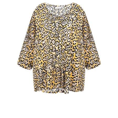 Masai Clothing Damiti Leopard Print Top - Yellow