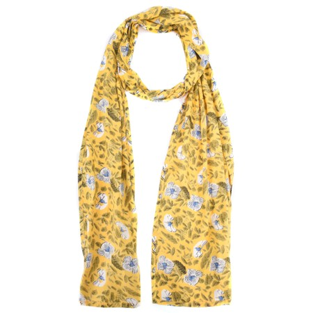 Masai Clothing Along Floral Scarf - Yellow