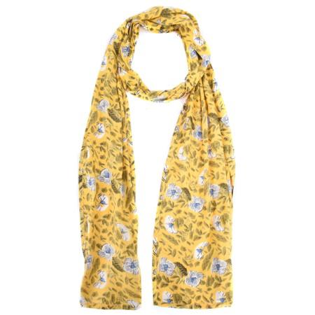 Masai Clothing Along Floral Scarf - Yellow