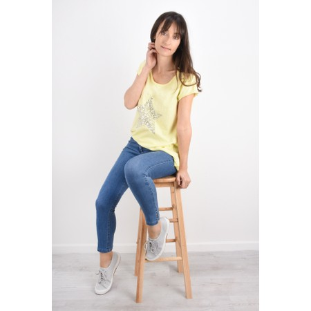Luella Star Sequin T-Shirt - Yellow