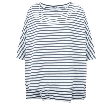 Mama B Sidro Riga Stripe Top - Blue