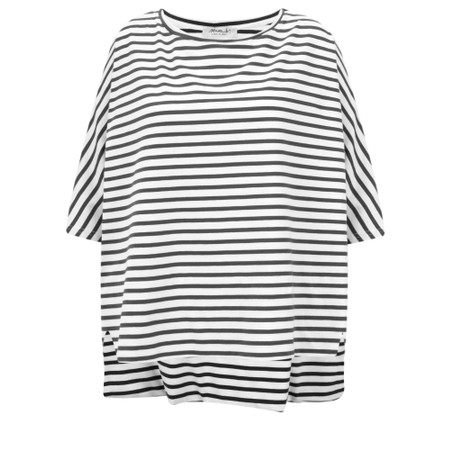 Mama B Sidro Riga Stripe Top - Black