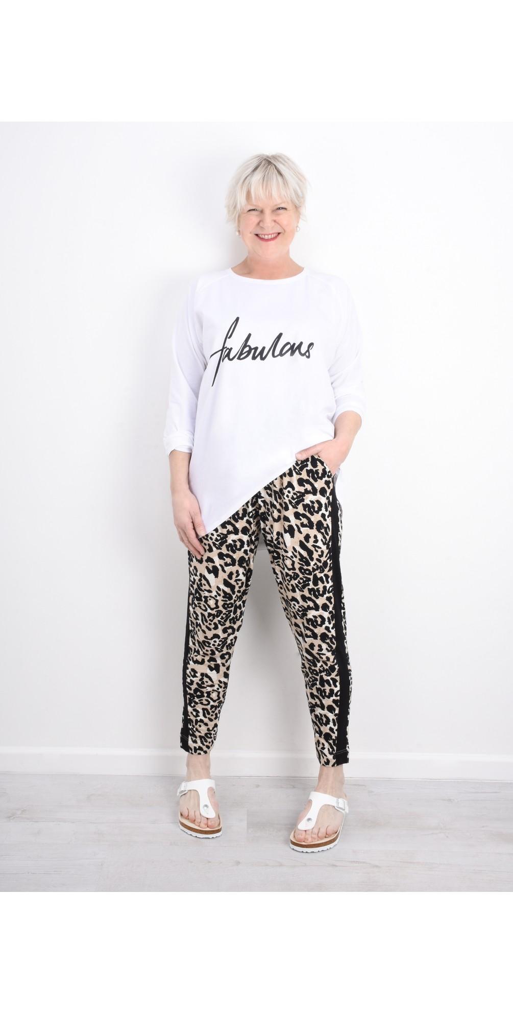 Pandie Leopard Print Lounge Trousers main image