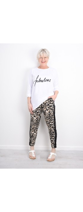 Masai Clothing Pandie Leopard Print Lounge Trousers Army Org