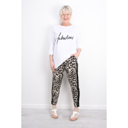 Masai Clothing Pandie Leopard Print Lounge Trousers - Green