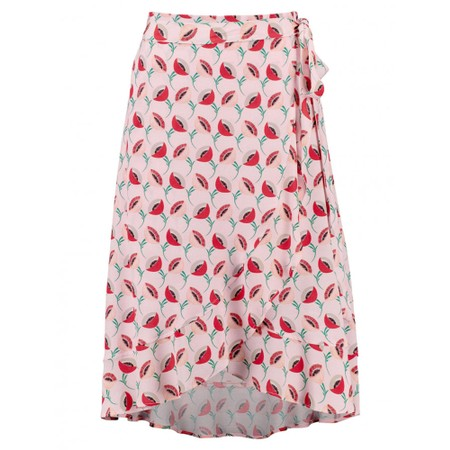Expresso Enja Floral Wrap Style Skirt - Pink