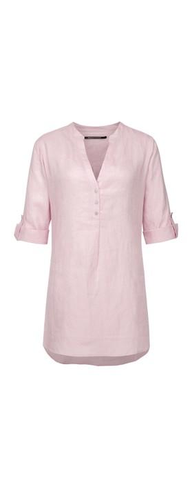 Expresso Estelle Linen Blouse Light Pink