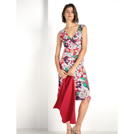 Expresso Elona Bold Floral Dress - Red