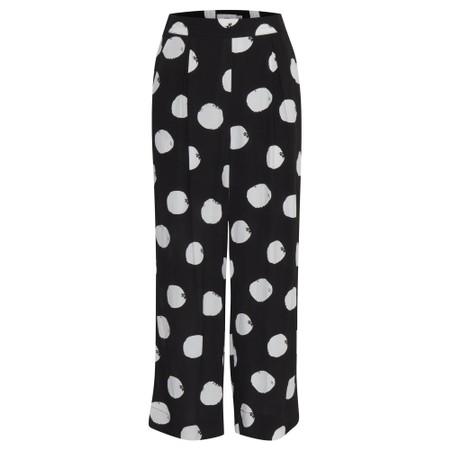 ICHI Brooke Spot Print Trouser - Black