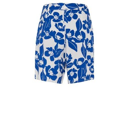 ICHI Nella Floral Print Shorts - White