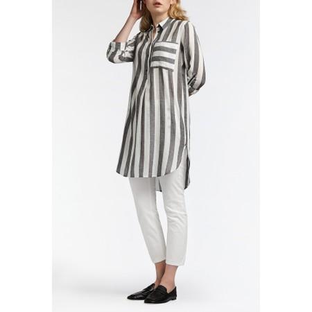 Sandwich Clothing Striped Seersucker Blouse - Grey