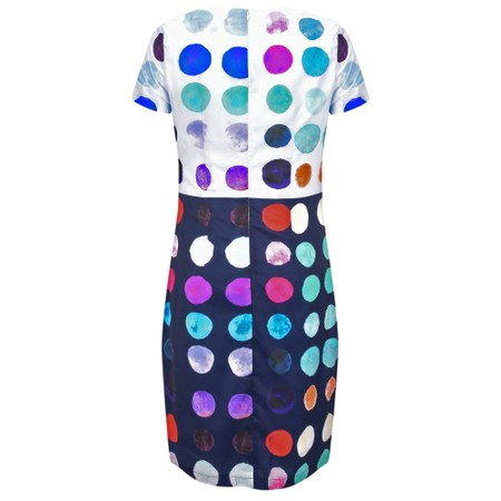 Smashed Lemon Spot Shift Dress - Multicoloured